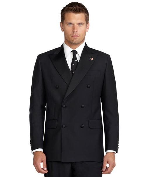 Double-Breasted Tuxedo Jacket by Brooks Brothers in Elementary - Season 4 Episode 3