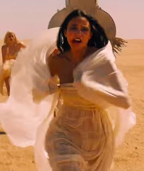 Custom Made White Dress (Fragile) by Jenny Beavan in Mad Max: Fury Road