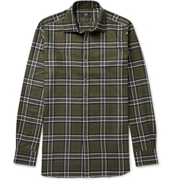 Slim-Fit Checked Cotton-Twill Shirt by Dun Hill in The Mindy Project