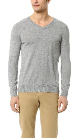 V Neck Sweater by Band of Outsiders in Yves Saint Laurent