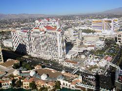 Las Vegas, Nevada by Caesars Palace in Godzilla