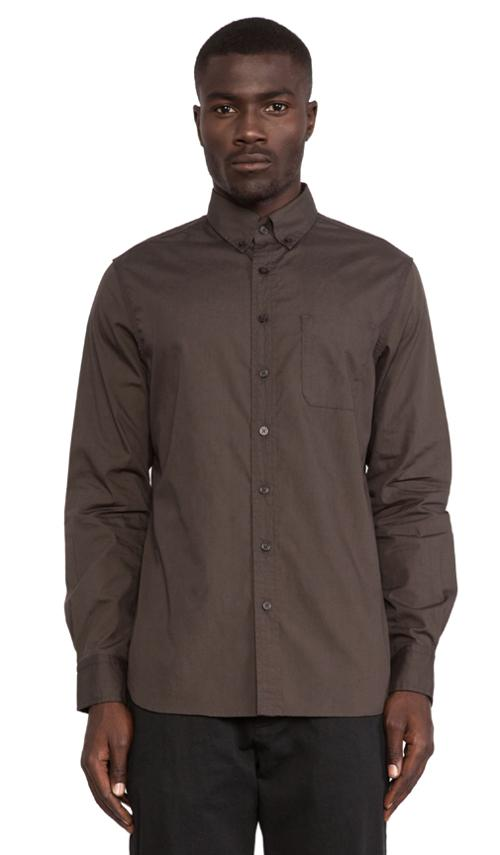 Reversed Foliage Print Poplin Button Down by Wings + Horns in Lee Daniels' The Butler