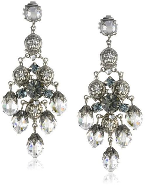 """""""Pewter"""" Bold Crystal Chandelier Silver-Tone Earrings by Sorrelli in Hercules"""