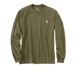 K126 Workwear Pocket Long-Sleeve Tee by Carhartt in The Ranch