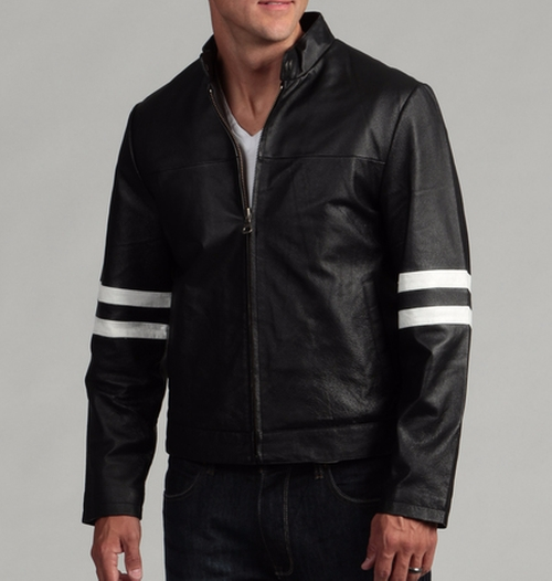 Genuine Leather Moto Jacket by Tanners Avenue in The Infiltrator