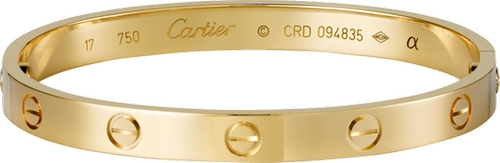 Love Bracelet by Cartier in Keeping Up With The Kardashians