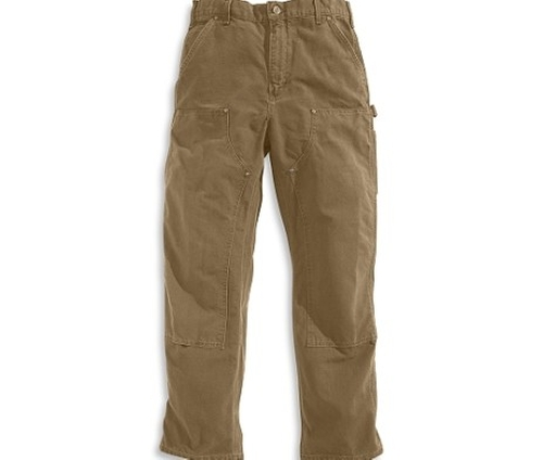 Double Front Duck Dungaree Pants by Carhartt in Demolition
