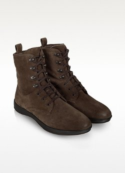 Suede Lace-Up Ankle Boots by Moreschi in That Awkward Moment