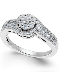 Diamond Halo Promise Ring by Macy's in Ballers