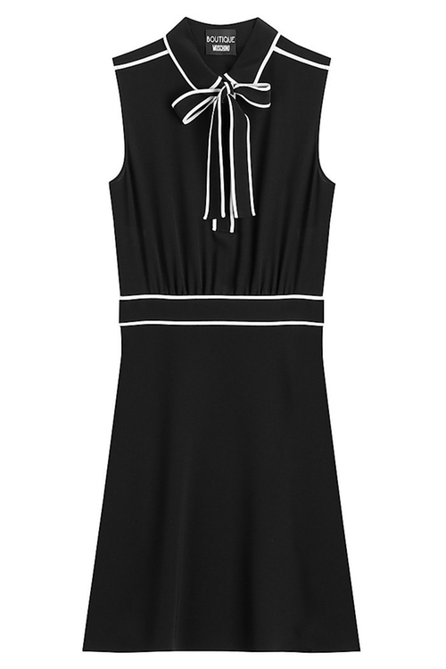 Tie Neck Dress by Boutique Moschino in Elementary
