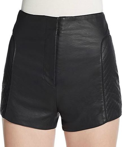 Jetson Faux Leather Shorts by French Connection in Scream Queens - Season 1 Episode 4