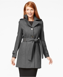 Belted Wool Trench Coat by Calvin Klein in Nashville
