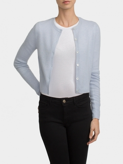 Essential Cashmere Cardigan by White + Warren in Empire