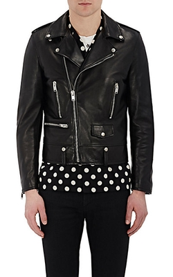 Leather Moto Jacket by Saint Laurent in Kevin Hart: What Now?