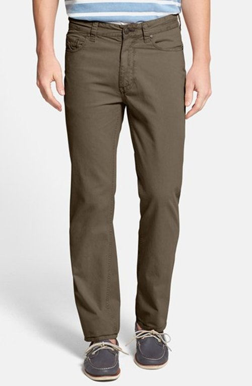 Classic Fit Five-Pocket Cotton Chino Pants by Tailor Vintage in Neighbors