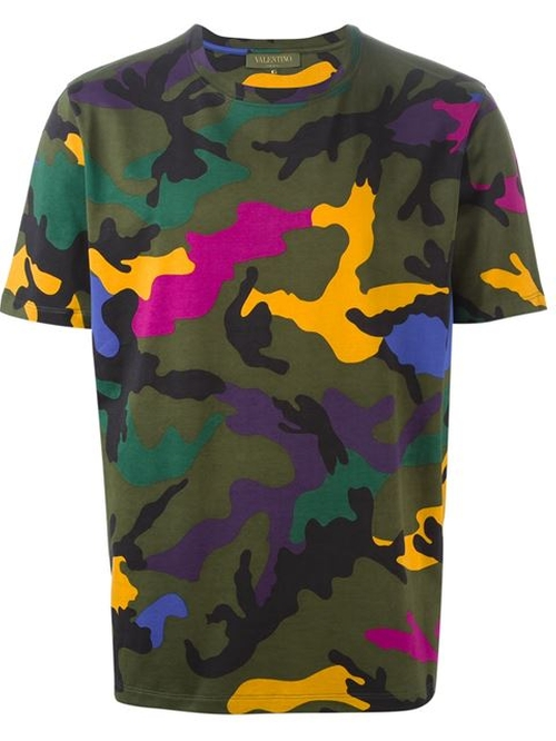 Camouflage Print T-Shirt by Valentino in Empire
