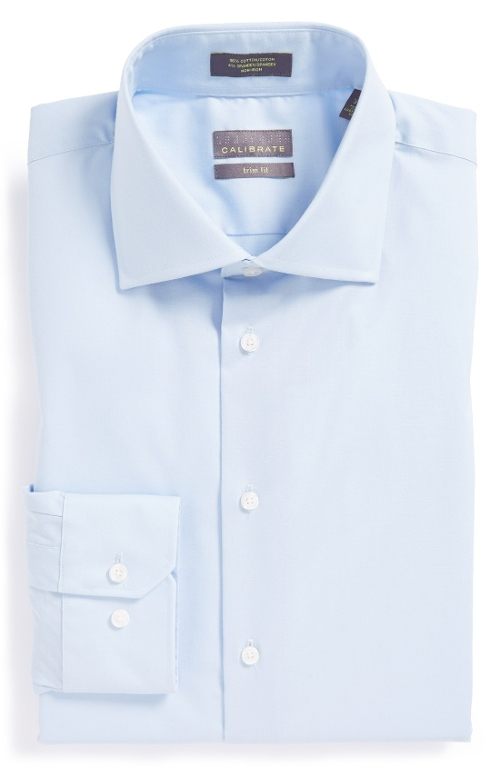 Trim Fit Dress Shirt by Calibrate in Silver Linings Playbook