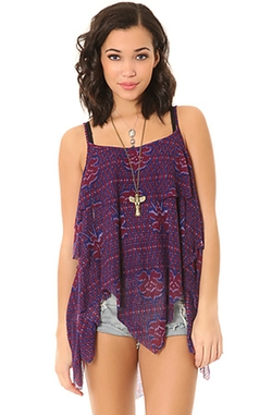 The Dew Drop Printed Tank Top by Free People in Modern Family