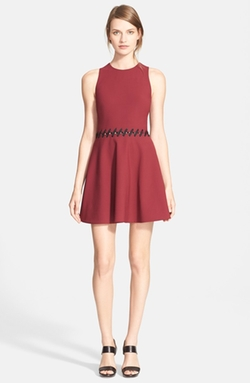 'Carter' Lace-Up Detail Fit & Flare Dress by Elizabeth and James in How To Get Away With Murder