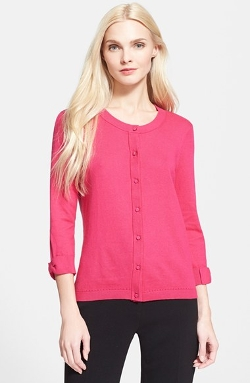 'Somerset' Cotton Blend Cardigan by Kate Spade New York in Pitch Perfect 2