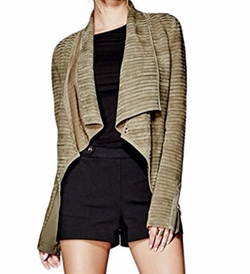 Llana Draped Suede Jacket by Guess by Marciano in The Flash