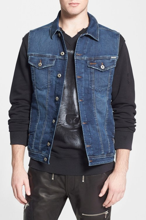 Shar-Ne Jogg Denim Vest by Diesel in The Gunman