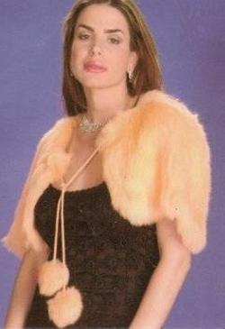 Angora Rabbit Fur Shrug by Fur Scarf & Shawl in Confessions of a Shopaholic