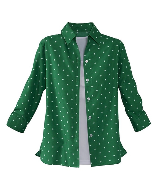 Polka Dot Twinset Shirt by National in The Mindy Project - Season 4 Episode 9