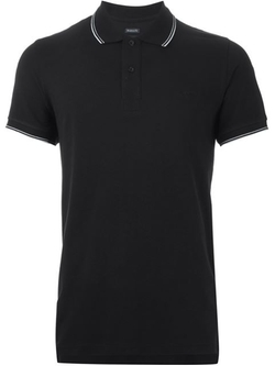 Striped Trim Polo Shirt by Armani Jeans in New Girl