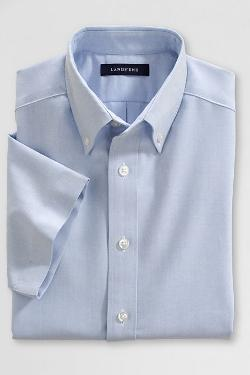 Boys' Short Sleeve Oxford Shirt by Lands' End in St. Vincent