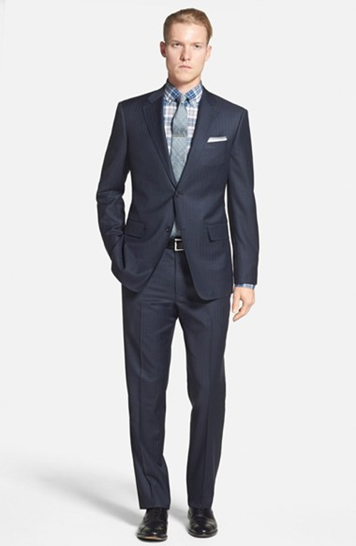 Classic Fit Stripe Wool Suit by John W. Nordstrom in Pitch Perfect 2