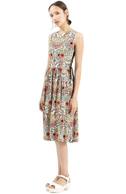 'Garden' Lace-Up Midi Dress by Topshop in Nashville
