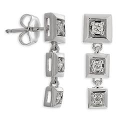 Diamond Square Drop Earrings by Ben Bridge in Suits