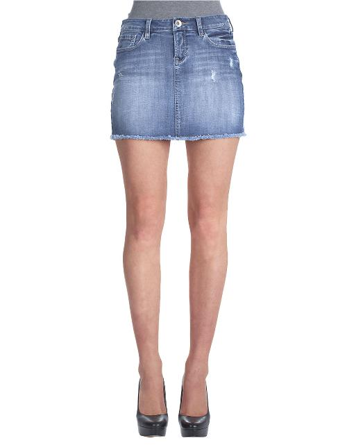 Stretch Denim Skirt by Kensie Jeans in St. Vincent