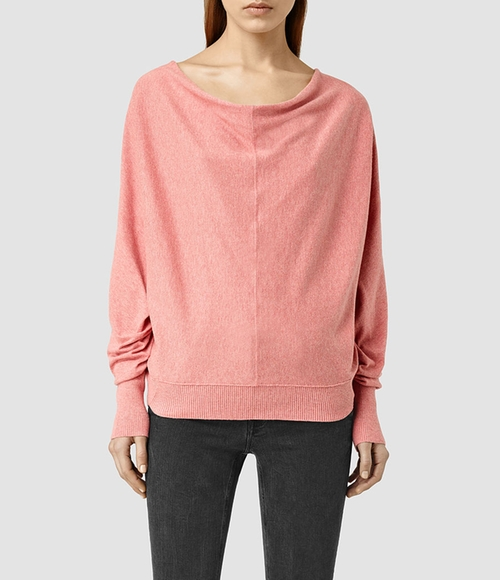 Karen Kim's Pink All Saints Elgar Cowl Neck Sweater from ...