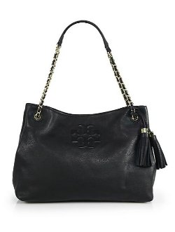 Thea Chain Shoulder Slouchy Tote Bag by Tory Burch in That Awkward Moment