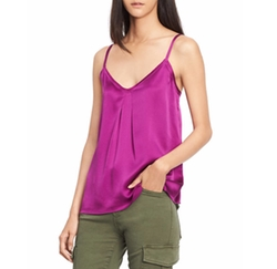 Pleated V-Neck Camisole Top by Vince in The Good Place