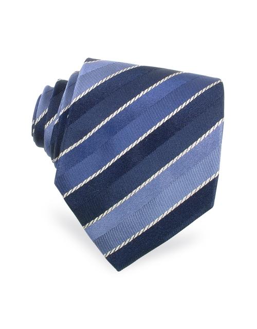 Regimental Woven Silk Tie by Moreschi in Ride Along 2