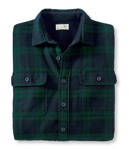 Fleece-Lined Flannel Shirt by LL Bean in Prisoners