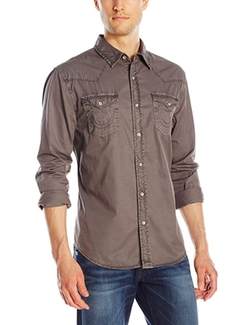 Men's Jake Washed-Down Western Denim Shirt by True Religion in Lethal Weapon