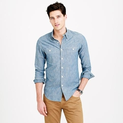 Selvedge Japanese Chambray Utility Shirt by J.Crew in Maze Runner: The Scorch Trials