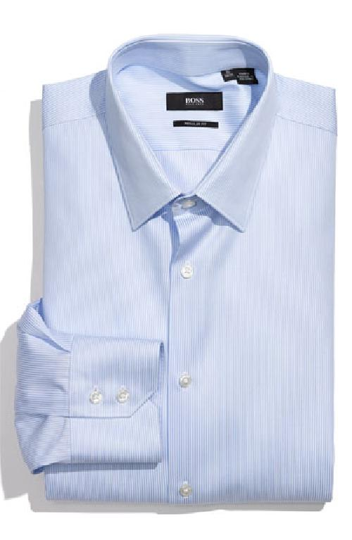 'Gulio' US Regular Fit Dress Shirt by Hugo Boss in Vampire Academy
