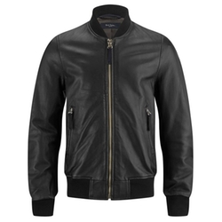 Leather Bomber Jacket by Paul Smith Jeans in Ballers