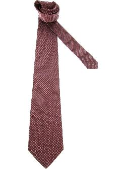 embroidered polka dot tie by SAINT LAURENT in The Wolf of Wall Street