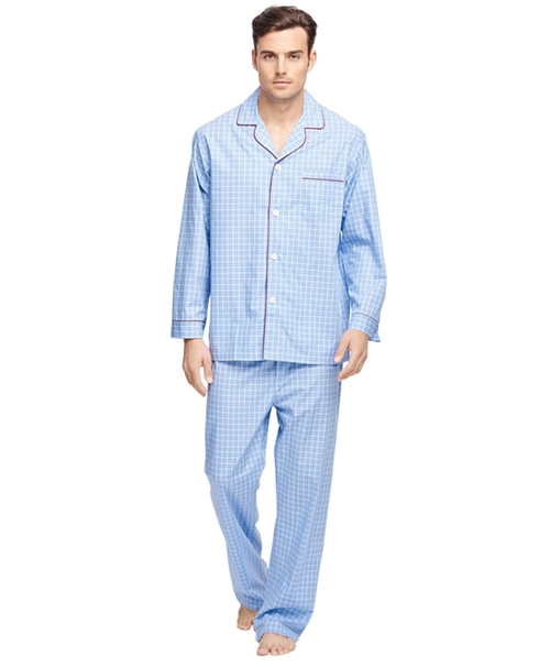 Check Pajamas by Brooks Brothers in The Mindy Project - Season 4 Episode 9