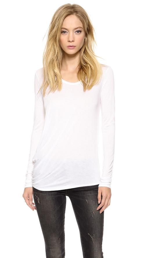 Kinetic Jersey Long Sleeve Shirt by Helmut Lang in No Strings Attached
