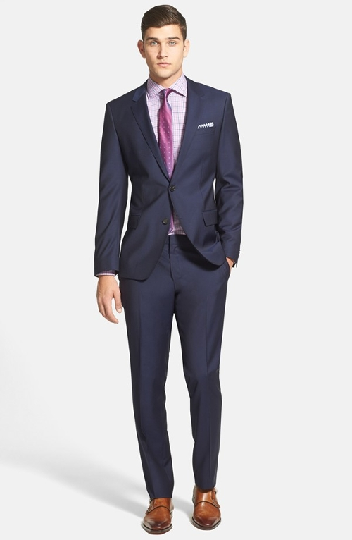 'Huge/Genius' Trim Fit Navy Wool Suit by Boss Hugo Boss in Fantastic Four