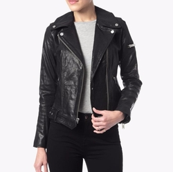 Moto Leather Jacket by 7 For All Mankind in The Blacklist
