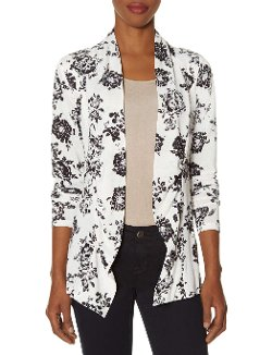Floral Drape Front Cardigan by The LImited in Pitch Perfect 2