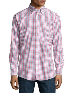 Classic Fit Non-Iron Cotton Sport Shirt by Neiman Marcus in Silicon Valley